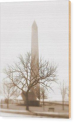 Washington Wood Print by Paula Brown