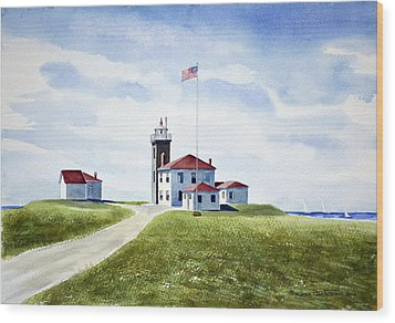 Watch Hill Ri Lighthouse Wood Print