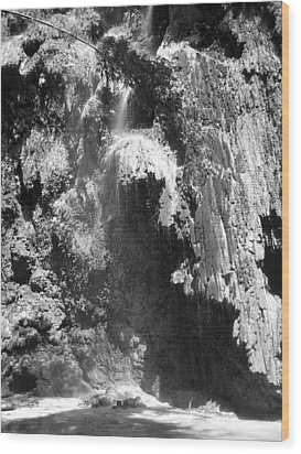 Water Falls Wood Print by Duane Blubaugh