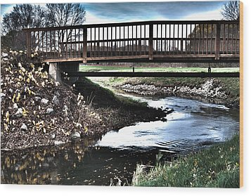 Wood Print featuring the photograph Water Under The Bridge by Deborah Klubertanz