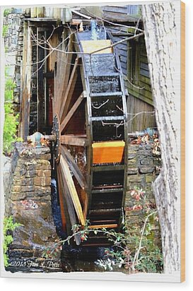 Wood Print featuring the photograph Water Wheel by Tara Potts