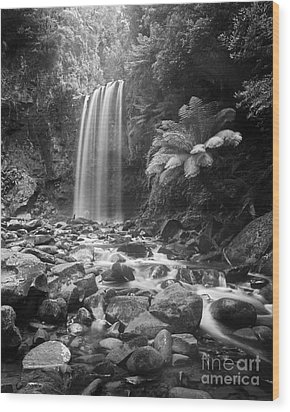 Waterfall 09 Wood Print by Colin and Linda McKie