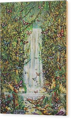 Waterfall Of Prosperity II Wood Print