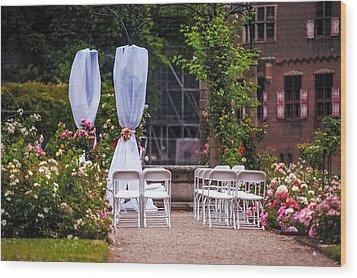 Wedding Arrangement In De Haar Castle. Utrecht Wood Print by Jenny Rainbow