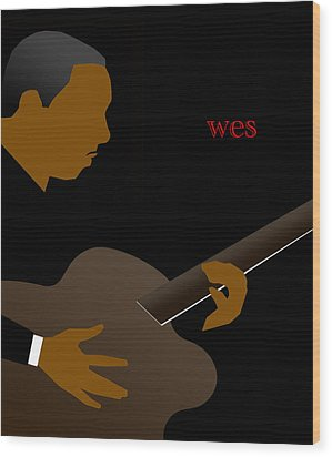 Wes Montgomery Wood Print by Victor Bailey
