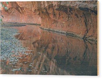 West Fork Reflection Wood Print