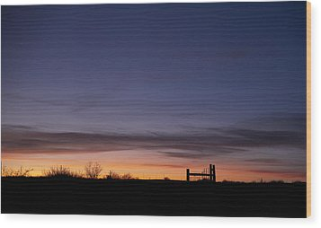 West Texas Sunset Wood Print by Melany Sarafis