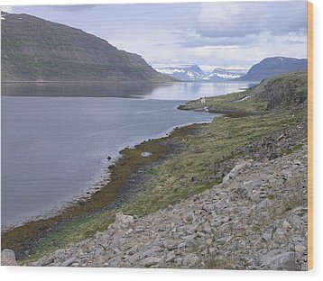 Westfjords Wood Print by Christian Zesewitz