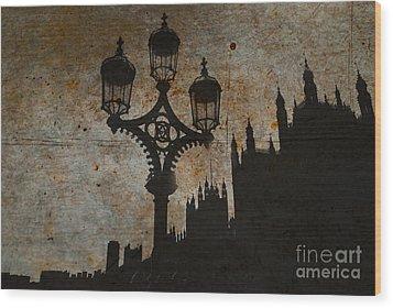 Wood Print featuring the digital art Westminster Silhouette by Matt Malloy
