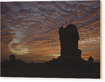 Wood Print featuring the photograph White Desert Sunrise by Judi Baker