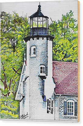 White River Station Wood Print by Bill Richards
