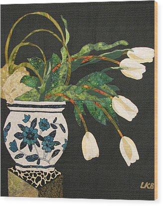 White Tulips Wood Print by Lynda K Boardman