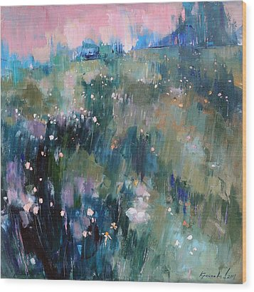 Wood Print featuring the painting Wild Grasses  by Anastasija Kraineva