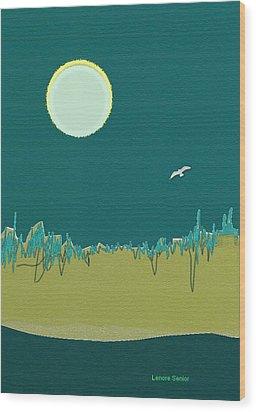 Wild Grasses Wood Print by Lenore Senior