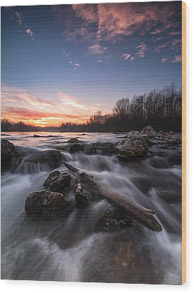 Wild River Wood Print by Davorin Mance