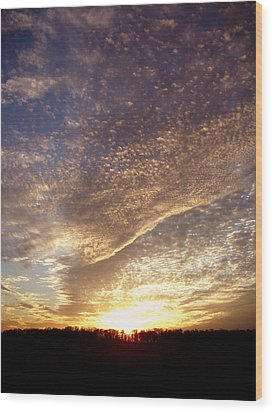Wood Print featuring the photograph Wild Sky 2 by Cynthia Lassiter