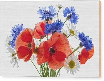 Wildflower Bouquet Wood Print by Elena Elisseeva