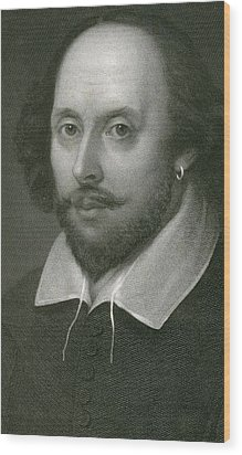 William Shakespeare Wood Print by English School