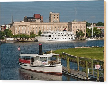 Wilmington Water Front Wood Print by Denis Lemay