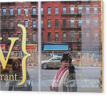 Windows  Wood Print by Sue Rosen