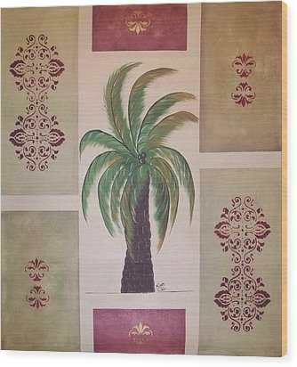 Windy Day Palm Wood Print