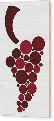 Wine Grape Wood Print by Frank Tschakert