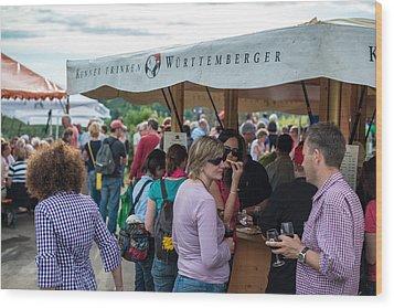 Wine Tour In Uhlbach Near Stuttgart - Germany Wood Print by Frank Gaertner