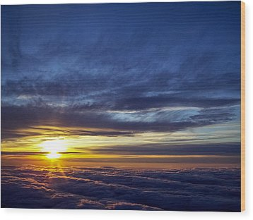 Wood Print featuring the photograph Winter Dawn Over New England by Greg Reed