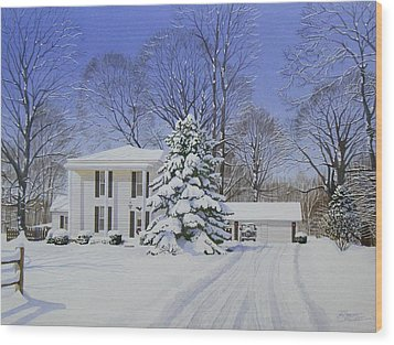 Winter Home Wood Print