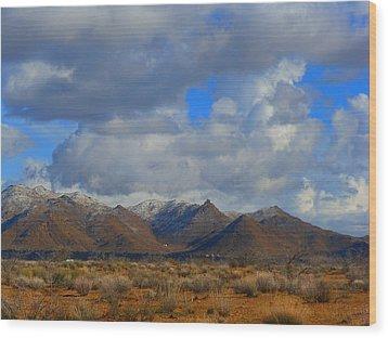 Winter In Golden Valley Wood Print