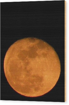 Wood Print featuring the photograph Winter Moon by Carlee Ojeda