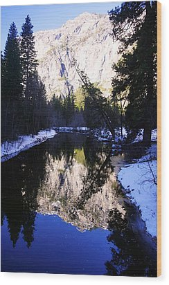 Winter Reflection Wood Print by Michael Courtney