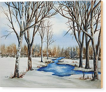 Winter Respite Wood Print by Thomas Kuchenbecker