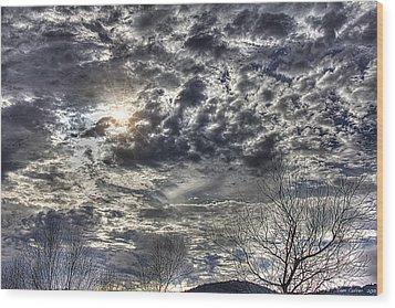 Winter Sky Wood Print by Tom Culver