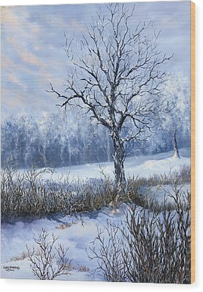 Wood Print featuring the painting Winter Slumber by Lynne Wright