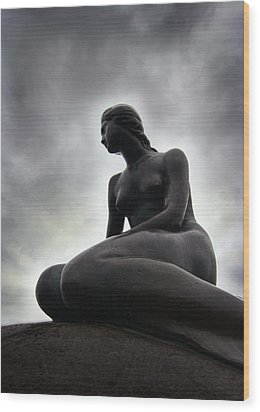Woman Standing Strong Wood Print