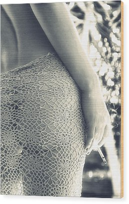 Woman Wood Print by Stelios Kleanthous