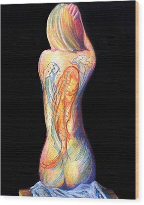 The Koi Tattoo Wood Print