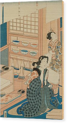Woodblock Production Wood Print by Japanese School