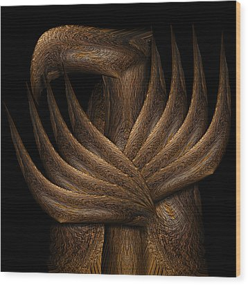 Wooden Bird Wood Print by Christopher Gaston