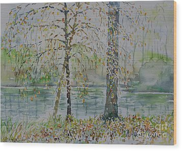 Wood Print featuring the painting Woodmans Pond by Alfred Motzer