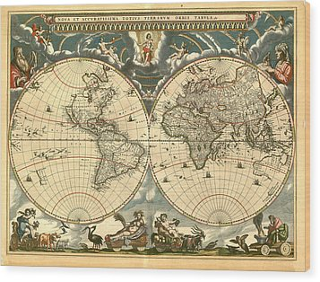 World Map Wood Print by Gary Grayson