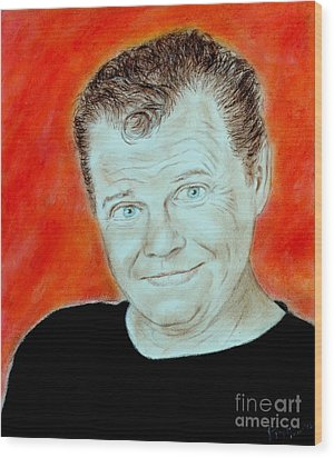 Wrestling Legend Jerry The King Lawler Wood Print by Jim Fitzpatrick