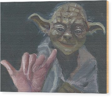 Y Is For Yoda Wood Print by Jessmyne Stephenson