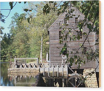 Yates Mill Wood Print by Kevin Croitz