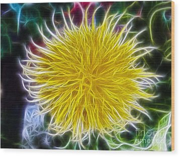Wood Print featuring the photograph Yellow Flower by Elvira Ladocki