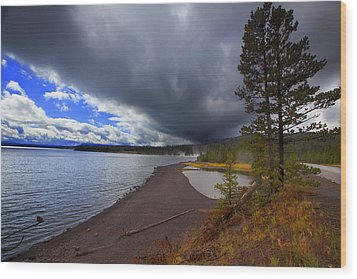 Wood Print featuring the photograph Yellowstone Park by Richard Wiggins