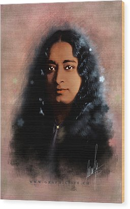 Yogananda Wood Print by Graphicsite Luzern