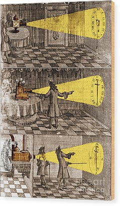 Zahn Light Projection Apparatus 1685 Wood Print by Science Source