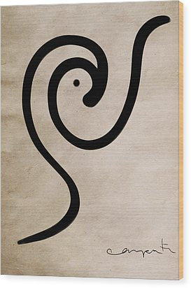 Zen Bird Wood Print